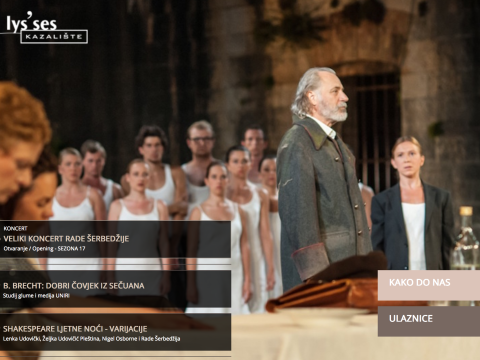 Nova web stranica kazalisa ulysses by BITWARE.hr